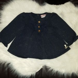 Juicy Couture shimmer sparkle sweater 12-18M